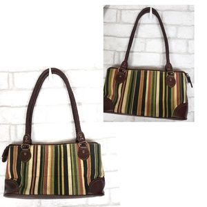 Relic by Fossil Leather & Fabric Shoulde Bag